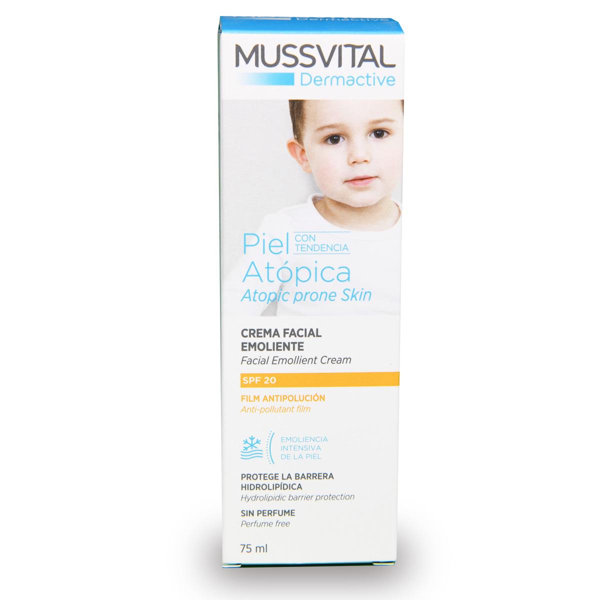 Mussvital Facial Emollient Cream SPF20 - Atopic